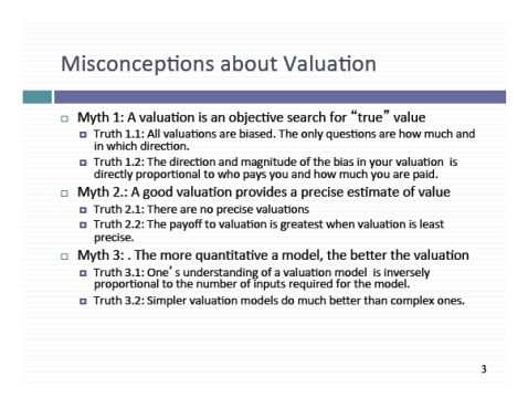 Damodaran Valuation Slide 3